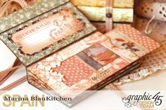 Box and Mini Album A Ladies Diary Tutorial by Marina Blaukitchen Product of Graphic 45 photo 10