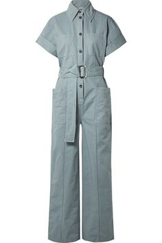 Acne Studios' 'Phyllis' jumpsuit is made from cotton-twill that feels soft but has just enough structure to hold its relaxed shape. Rompers Women, Jumpsuits For Women, Givenchy Top, Adidas Originals, One Piece Pajamas, Pajama Romper, Long Jumpsuits, Short, Acne Studios