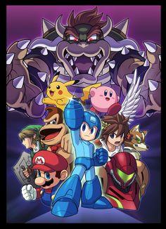 Super Smash Bros. WiiU - Mega Man - Illustration / Ryuji Higurashi (CAPCOM)