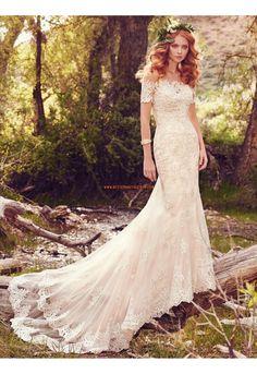 Meerjungfrau Schöne Modische Brautkleider aus Tüll mit Applikation