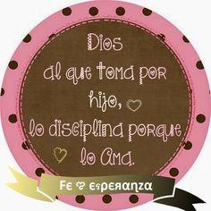 Hebreos 12:6 Porque el Señor al que ama, disciplina, Y azota a todo el que recibe por hijo. ♔