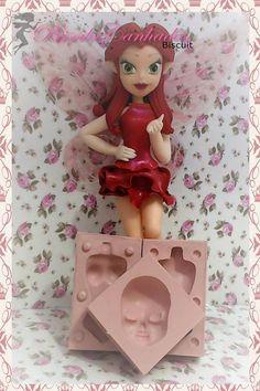 Fairy Fairies Fada em biscuit Fada porcelana fria fadas disney fada roseta molde de silicone