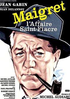 "Jean Delannoy, ""Maigret e il caso Saint-Fiacre"", 1959 Robert Hirsch, Cinema Posters, Movie Posters, Jean Gabin, Famous Detectives, Pretoria, Montgomery Clift, Mystery Books, Book Covers"