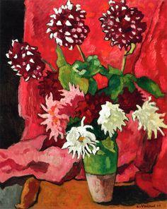 """Louis Valtat: """"Bouquet of Dahlias"""", 1942."""