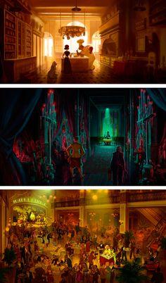Art of Animation : theartofanimation: Armand Baltazar Environment Concept Art, Environment Design, Concept Art Tutorial, Color Script, Disney Concept Art, Keys Art, Arte Disney, Animation, Color Studies