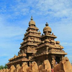 Shore Temple at Mahabalipuram (India) was built in the 8th century during the rule of the Pallav dynasty.  UNESCO declared it a World Heritage Site in 1984.