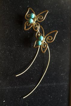 Small Butterfly turquoise by crafitti on Etsy