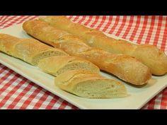 Receta fácil de barras de pan con masa madre (poolish) - YouTube