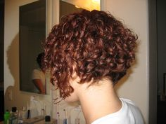 inverted curly bob, so cute, Kyle would have a heart attack!