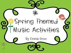 Have fun with these Spring Themed Music Activity Sheets which include musical math, dynamics terms, time signatures and more.   Enjoy! Miss Emma