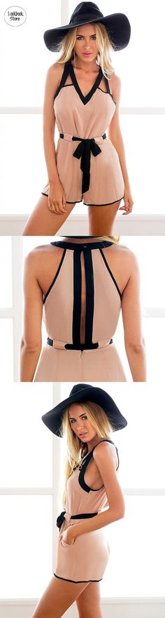 Best Seller // Just wear this slit back romper with flats or two bright shoes for a quirky yet grown-up outfit.