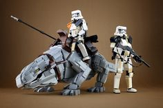 This scene by Lego 7 pays tribute the coolest space lizard in a galaxy far, far away.