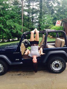 Jeep wrangler beach girl surfer girl