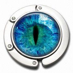 Folding Purse Hanger  Blue Eye by NowThatsCharming on Etsy, $14.99