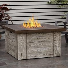 Real Flame Forest Ridge 42 in. Fiber-Cast Concrete Propane Fire Pit Table in Weathered Gray with Natural Gas Conversion - The Home Depot - Real Flame Forest Ridge 42 in. Fiber-Cast Concrete Propane Fire Pit Table in Weathered Gray with Na - Diy Gas Fire Pit, Propane Fire Pit Table, Gas Fire Table, Fire Pit Backyard, Gas Fire Pits, Gas Outdoor Fire Pit, Natural Gas Fire Pit, Fire Pit Materials, Gas Fires