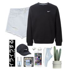 """Don't//Bryson Tiller"" by thelonelyheartsclub ❤ liked on Polyvore featuring Zara, NIKE, Topshop and Nails Inc."