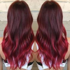 Burgundy Red Ombre | 15 Ombre Hair Color Ideas