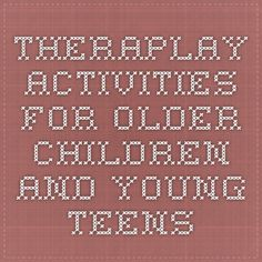 family Art therapy activities Art therapy activities autism Theraplay Activities for Older Children and Young Teens Play Therapy Activities, Activities For Teens, Counseling Activities, Family Activities, Therapy Tools, Music Therapy, Therapy Ideas, Sand Therapy, Psicologia