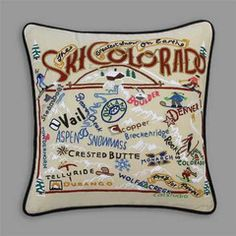 Ski Colorado pillow - Colorado ski resorts will always have my heart!