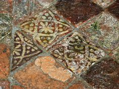 Close up of medieval floor tiles - Strata Florida abbey church by Phil Champion, via Geograph
