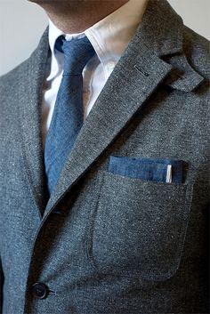 Neat Blazer Menswear buttondown shirt