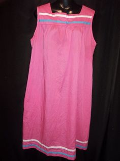 Pink HOUSE LOUNGE DRESS Night Gown Nightgown Size LARGE #Unbranded #LOUNGEHOUSEDRESSDUSTER $7.99 + $3.95 s/h