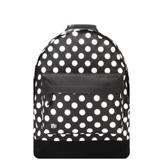 Mi-pac black&white polka dot backpack