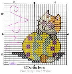 Cat Calendar, Cross Stitch Animals, Stuffed Animal Patterns, Farm Animals, Cross Stitch Patterns, Cat Stuff, Cats, Cross Stitch, Punto De Cruz