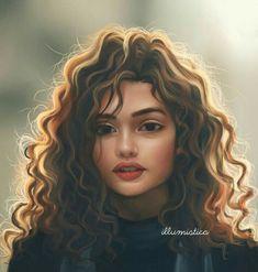 Cute Girl Drawing, Cartoon Girl Drawing, Girl Cartoon, Cartoon Logo, Drawing Art, L'art Du Portrait, Digital Portrait, Pencil Portrait, Art Anime Fille