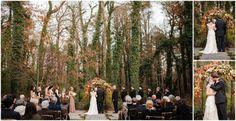 Fall wedding ceremony at RT Lodge   www.rtlodge.com   #fallwedding #outdoorwedding