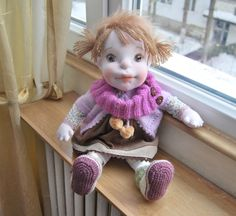 Waldorf Doll, Waldorf Inspired Doll, Soft Doll, Fabric Doll, Baby Doll, Handmade Doll, Girl Gift, Soft Sculpture Baby Doll, Collectible Doll by MaryUniqueDoll on Etsy