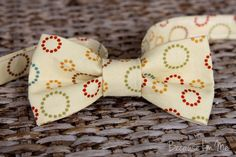 Boys Bow Tie  Sophisticated Multi Circle Print by becauseimme, $14.00