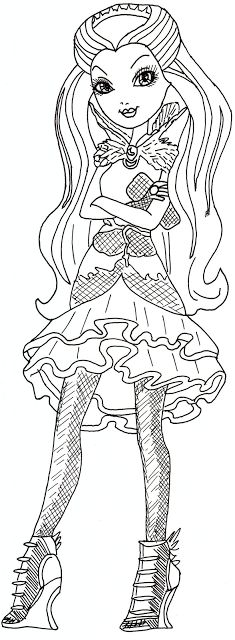Jr Coloring Pages For Ever After High Madeline Hatter Cartoon Best Colouring Monster Images On Pinterest Adult Throughout