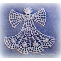 Horgolt angyal Brooch, Jewelry, Jewlery, Jewerly, Brooches, Schmuck, Jewels, Jewelery, Fine Jewelry