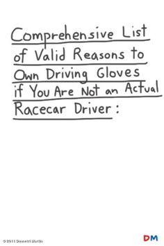 Demetri Martin - Driving Gloves