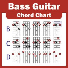 a electric bass guitar chord chart 4 cuerdas nuevo Bass Guitar Scales, Bass Guitar Notes, Bass Guitar Chords, Learn Guitar Chords, Music Chords, Guitar Chord Chart, Bass Guitar Lessons, Music Guitar, Guitar Pedals