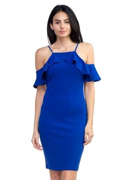 """Update your seasonal staples with this chic off the shoulder ruffle dress."" #offshoulderruffledress #womenbodycondress Ruffle Dress, Knit Dress, Fashion 2020, Women's Fashion, Classic Fashion, Fashion Styles, Fashion Trends, Party Dresses For Women, Black Ruffle"