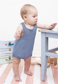 1408: Modell 13 Kortbukse med seler #strikk #bomull