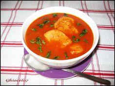 Supă de roșii cu galuște Supe, Curry, Ethnic Recipes, Food, Curries, Essen, Meals, Yemek, Eten