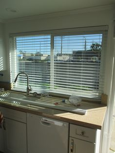 Who has blinds with tile cut outs? We Do! We Do! We Do!  The most common product installed on a window in the kitchen abo but not suggested where moisture is.The reason why is when you are doing dishes you want something that is not effected by the water/elements. In addition, you can raise and lower the blind or shade when needed.   Recent installation in Fountain Valley, California. Not only do blinds change the interior of your home but also the exterior while providing some level of…