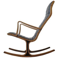 1stdibs.com | Heron Rocking Chair by Mitsumasa Sugasawa for Tendo Mokko Japan (1st Dibs)