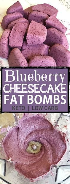 Easy Blueberry Cheesecake Fat Bombs   These keto fat bombs are so quick, easy, and delicious! And, they only require 5 ingredients! The best Keto dessert, ever!! Ketogenic diet, low carb and atkins approved.   Listotic.com
