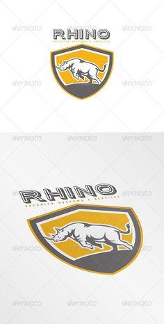 Rhino Security Systems Logo - Animals Logo Templates