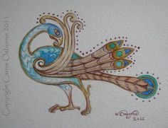 Windsongs & Wordhoards: May 2011 painting inspired by book of kells