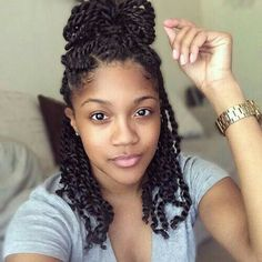 Two strand twist styles are versatile, hip, and classy, not to mention an easy style to DIY! Check out the latest ways to wear two strand twist styles. Hairstyles For Afro Hair, Havana Twist Hairstyles, Protective Hairstyles, Braided Hairstyles, Protective Styles, Black Hairstyles, Hairstyles 2016, Wedding Hairstyles, Braided Updo