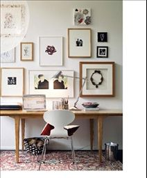 Modern Home Office Inspiration · Workspace Design · Creative Studio · Artist Desk · Gallery Wall Home Office Inspiration, Workspace Inspiration, Interior Inspiration, Inspiration Wall, Interior Ideas, Design Interior, Creative Inspiration, Creative Ideas, Interior Decorating