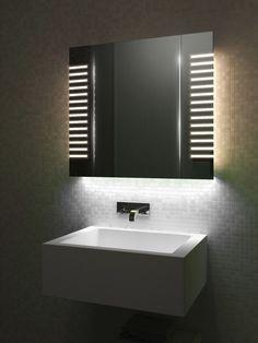 Diamond X Collection Auto Colour Changing Demist Bathroom Cabinet With Shaver & Sensor Bathroom Mirror Design, Bathroom Mirror Lights, Small Space Bathroom, Boho Bathroom, Bathroom Faucets, Entryway Mirror, Light Bathroom, Bathroom Plants, Backlit Mirror