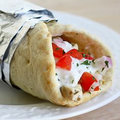 baked chicken gyros