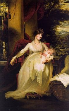 Lady Caroline Capel Holding Her Daughter Harriet, by John Hoppner.
