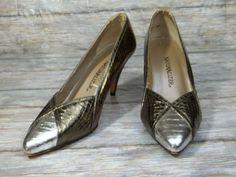 Naturalizer Heels Shoes Womens Size 8 M Gold & Silver Pumps Shoes #Naturalizer #PumpsClassics